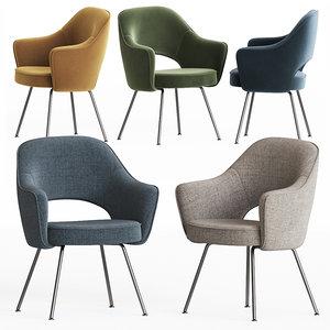 3D knoll saarinen dining chair