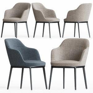 3D model caratos chair maxalto