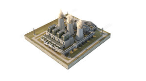 3D coal power plant station
