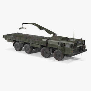 maz 7310 transport vehicle 3D model