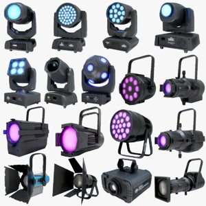 led spot lights pbr 3D model