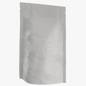 stand zipper pouche 150g 3D