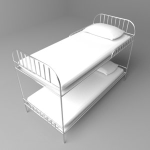 bunked bed 3D model
