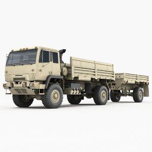 3D m1078 m1082 trailer lmtv model