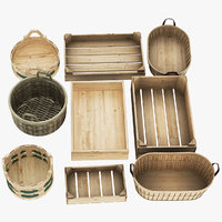 Wooden Fruit Basket Collection 9 in 1