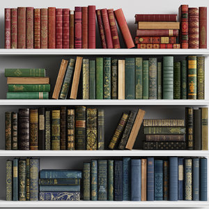 3D old classic books