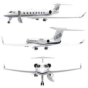 3D airplane golfstream 650