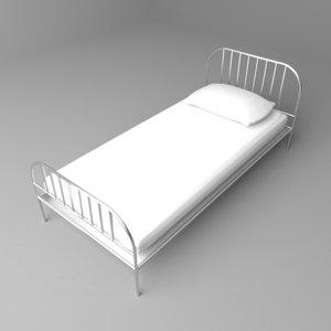 camp bed 3D model