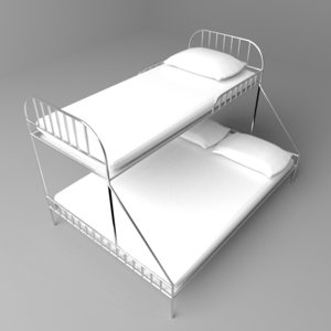 3D double decker bed
