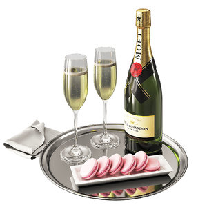 champagne moet tray 3D model