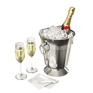 champagne moet bucket 3D model