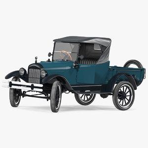 t roadster pickup rigged 3D model