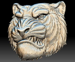 3D tiger head stl file