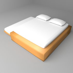 trundle bed 3D model