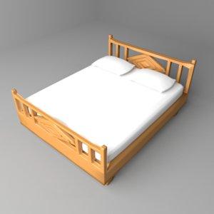 3D bed headboard model