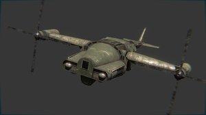 3D helicopter vertibird transporter model