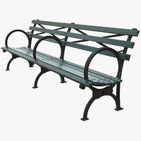Bench Long Green +PBR
