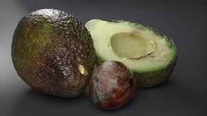 3D avocado