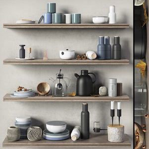 scandinavian decorative set kitchen 3D model