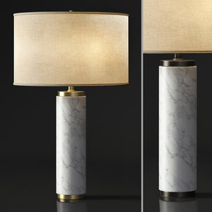 restoration column marble table lamp model