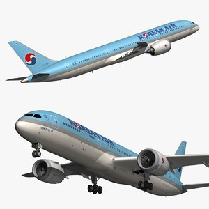 boeing korean air 9 3D model