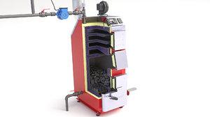 3D model boiler furnace oil