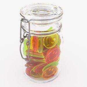 3D candy jar smilie