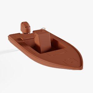 bass boats 3D model