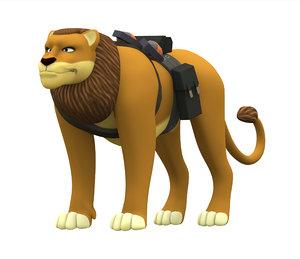 3D soldier lion model