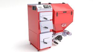 3D furnace boiler oil