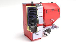furnace boiler oil 3D model