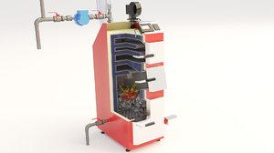 boiler furnace coal 3D model