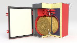3D boiler furnace oil