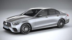 3D mercedes e-class sedan