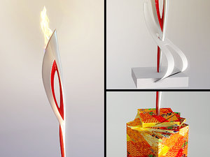 3D olympic flame model