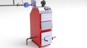 boiler furnace oil 3D