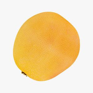 3D grapefruit 06 raw scan