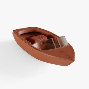 riva boat 3D model