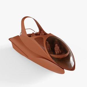 speed motor boat 3D model