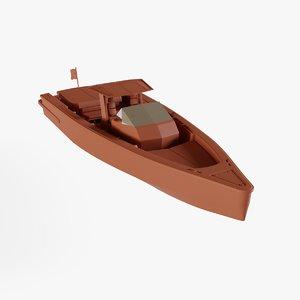 3D center console boat