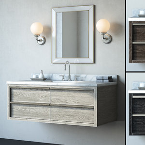 3D bathroom cabinet bezier single