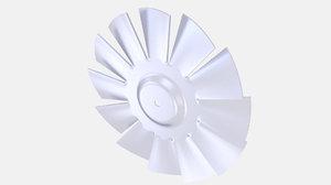 fan cooling 3D model