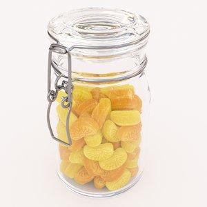 candy jar lemon model