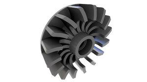 3D model fan cooling