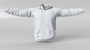 sports hoodie 3D model