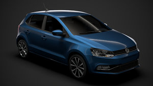 3D model volkswagen polo tdi 5d