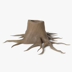 cartoon tree stump model