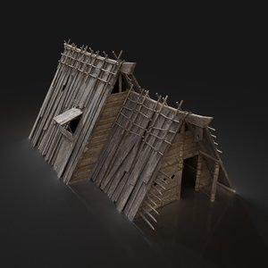 3D viking north village model