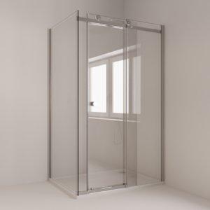 3D model sliding shower cubicle