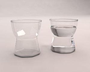 3D glass water model